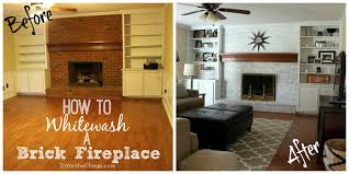 whitewash brick fireplace for you easy home decorating ideas