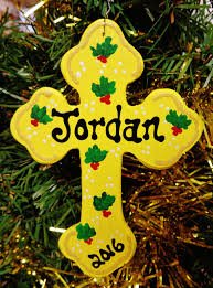 u choose name date cross ornament personalize name