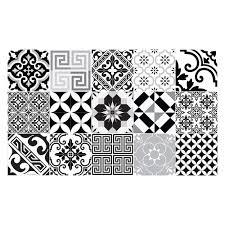 buy beija flor electric vinyl floor mat black white amara