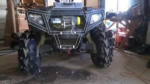 homemade jeep bumper custom front bumper polaris atv forum