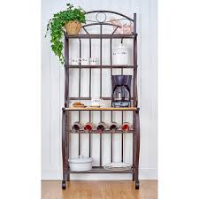 Wooden Bakers Rack Ideas Antique Interior Storage Design Ideas With Bakers Rack