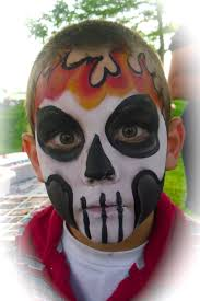 ghost rider face painting by party picassos face painting of