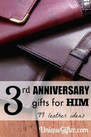 3rd anniversary gift ideas for leather 3rd anniversary gifts for him unique gifter