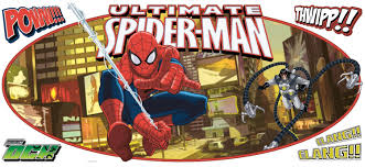 ultimate spider man headboard giant wall decal wall2wall ultimate spider man headboard giant wall decal