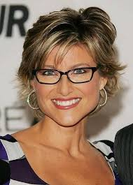 medium length hairstyles for 60 year old woman with glasses