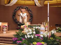 easter religious decorations seasonal decorations st vincent de paul catholic church