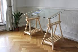 plateau verre bureau europe nature bureau tréteaux inclinable avec plateau verre
