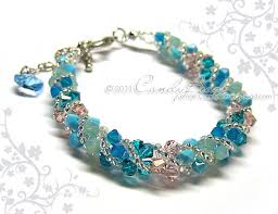 blue crystal bracelet swarovski images Crystal bracelet swarovski bracelet glass by candybead on zibbet jpg