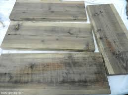 age new wood to weathered gray