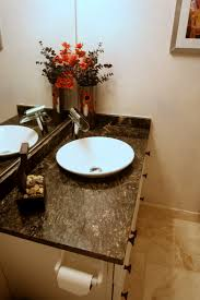 Granite Countertops Bathroom Decorating Bowl Sink From Granite With Flower Decorating Also