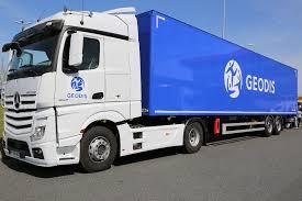 geodis trucks with blue brand