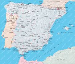 Blank Map Of Spain by Spain Portugal Map Imsa Kolese