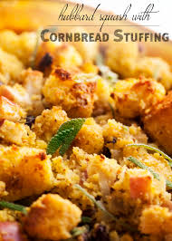 thanksgiving vegetarian recipes how do i cook this hubbard squash with cornbread stuffing just