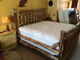 Log Bed Pictures by Colorado Log Furniture Colorado Made Rustic Log Timber