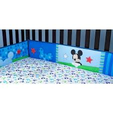 Mickey Mouse Baby Bedding Disney Baby Mickey Mouse Best Friends Crib Bumper Walmart Com