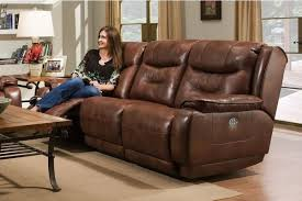 Power Recliner Leather Sofa Crescent Power Reclining Leather Sofa Katy Furniture