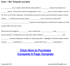 Sample Child Actor Resume by 28 Actors Bio Template 32 Acting Resumes Of Celebrities And