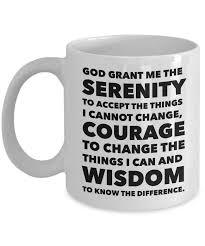 serenity prayer mug serenity prayer ceramic coffee mug twine