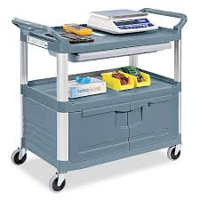 rubbermaid service cart with cabinet rubbermaid service cart with cabinet h 2060 uline