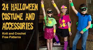 Childrens Halloween Costume Patterns 24 Halloween Costume Accessories Knit Crochet Free