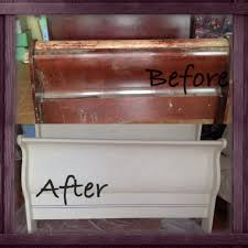 refinish ideas for bedroom furniture chalk paint dyi refurbished sleigh bed craft ideas pinterest