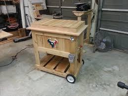 wooden deck cooler and bench wooden deck cooler design idea