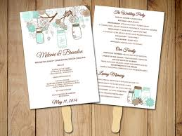 Rustic Wedding Program Fans How To Create Wedding Invitation Templates Ideas U2014 All Invitations