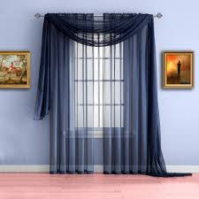 Sheer Navy Curtains Warm Home Designs Navy Blue Window Scarf Valances Sheer Navy