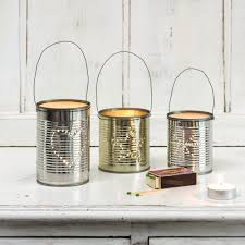 Tin Can Table Decorations Budget Christmas Decorating Ideas Ideal Home