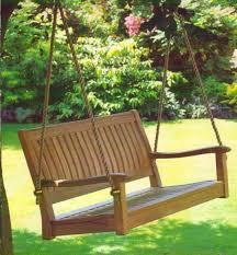 teak wood swinging porch bench my favorite design pinterest