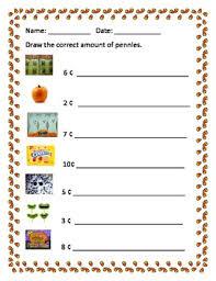 fall money worksheets by erin zaleski teachers pay teachers