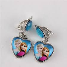 kids clip on earrings online cheap hot frozen elsa princess girl earrings earring