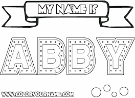 my name coloring pages abby coloring page steel
