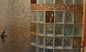 glass block designs for bathrooms shower beguiling glass shower wall partition stimulating shower