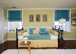 blue yellow gray bedroom contemporary bedroom