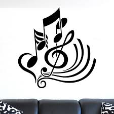 treble clef notes abstract musical wall sticker world of wall treble clef notes abstract musical wall sticker decal a