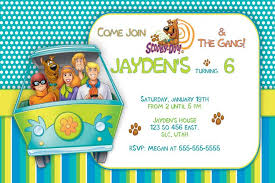 free printable scooby doo birthday party invitations template