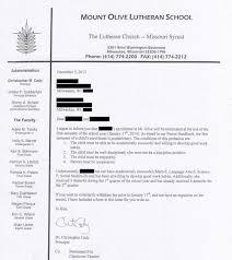 Recommendation Letter Sample For Teacher From Parent This Letter Reveals A Dirty Secret About Wisconsin Voucher Schools