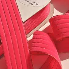 velvet ribbon by the yard metallic gold stripes hot pink velvet ribbon by the yard 36mm