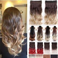 ombre hair extensions uk feather clip in synthetic hair extensions ebay