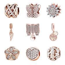 sterling silver charm bead bracelet images New authentic 100 925 sterling silver charm bead rose gold family jpg