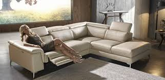 leather electric recliner chaise corner sofa stylish leather corner modular lounge with electric recliner