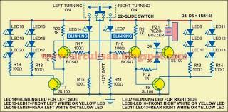 simple emergency lamp and turning indicator circuit diagram all
