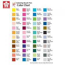 list of colours koi coloring brush pen available in 48 colours list 2 3