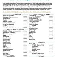 new home design center checklist july 2005 brightchat co