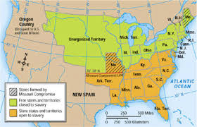 Louisiana Territory Map by The Missouri Compromise 1840 Missouri Declares Itself A Slave