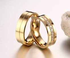 golden gold rings images Golden stripe rhinestones pave couple rings blazemall jpeg