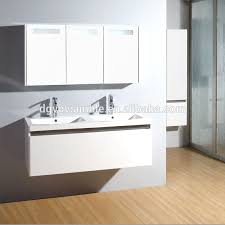 new product glossy black wall mounted mdf bathroom furniture