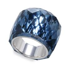 all swarovski rings images Lyst swarovski nirvana montana crystal ring in blue jpeg