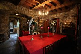 Castle Dining Room  Rent An Irish Castle  Ballyhannon Castle - Castle dining room